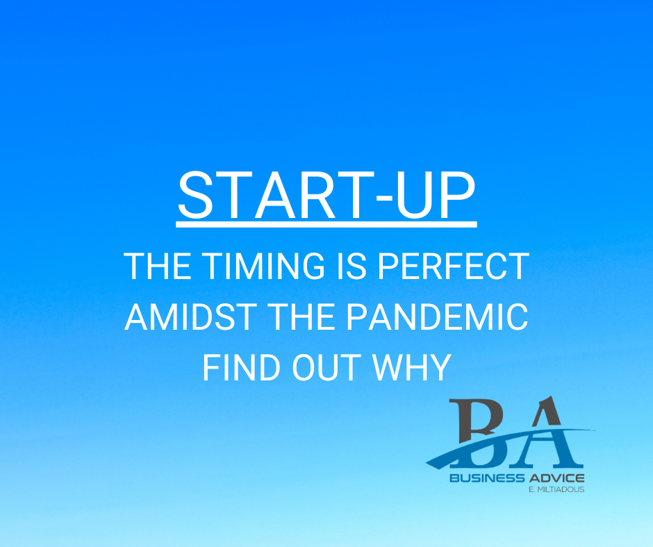 Business Advice E. Miltiadous | Perfect timing for start-up